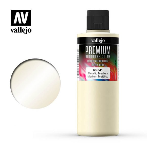 Premium Airbrush Color Vallejo Metallic Medium 62041