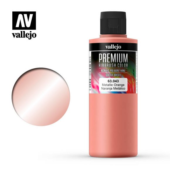 Premium Airbrush Color Vallejo Metallic Orange 62043
