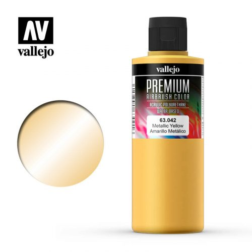 Premium Airbrush Color Vallejo Metallic Yellow 62042
