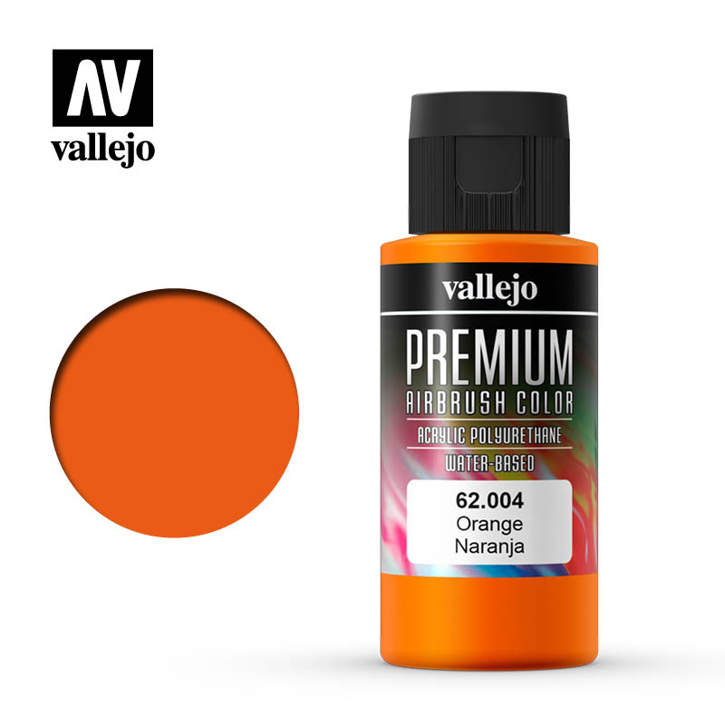 Premium Airbrush Color Vallejo Orange 62004