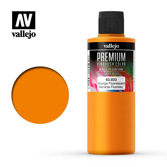 Premium Airbrush Color Vallejo Orange Fluorescent 62033