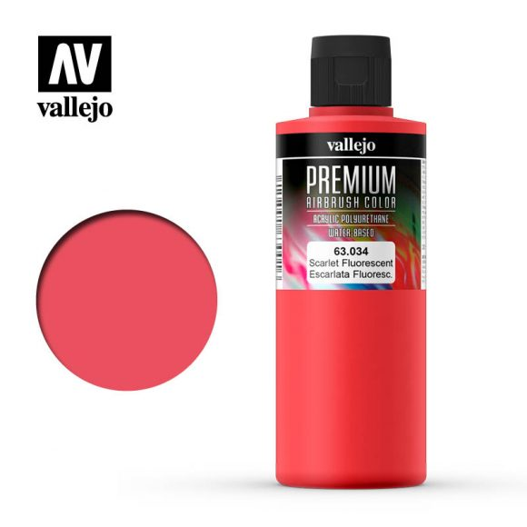 Premium Airbrush Color Vallejo Escarlet Fluorescent 62034
