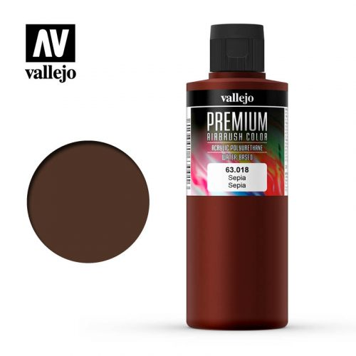 Premium Airbrush Color Vallejo Sepia 62018