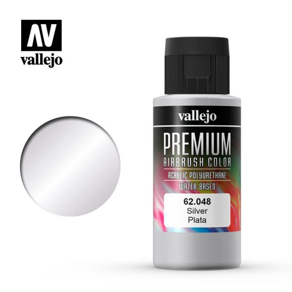 Premium Airbrush Color Vallejo Silver 62048