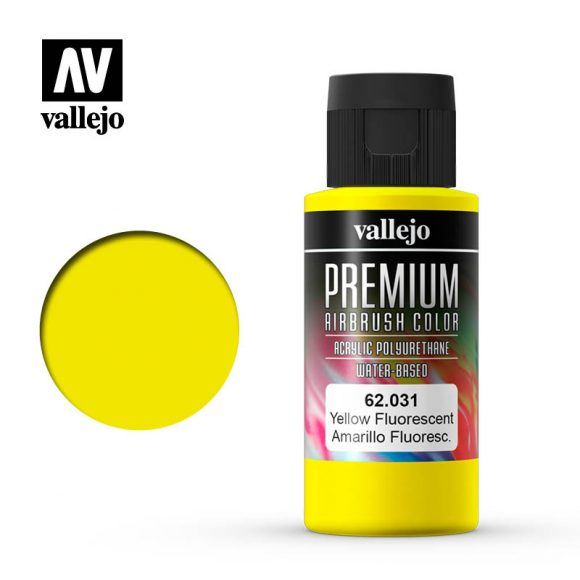 Premium Airbrush Color Vallejo Yellow Fluorescent 62031