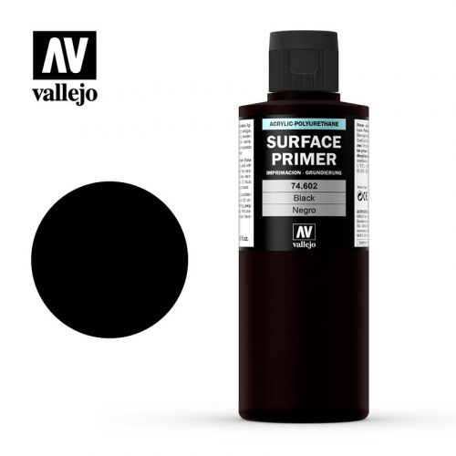 vallejo surface primer black 74602 200ml
