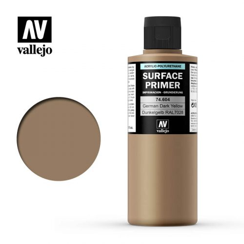 vallejo surface primer german dark yellow 74604 200ml