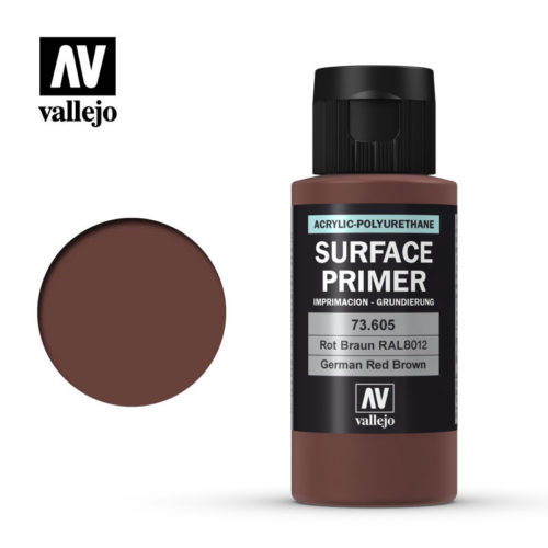 Vallejo Surface Primer German Red Brown 73605 60ml