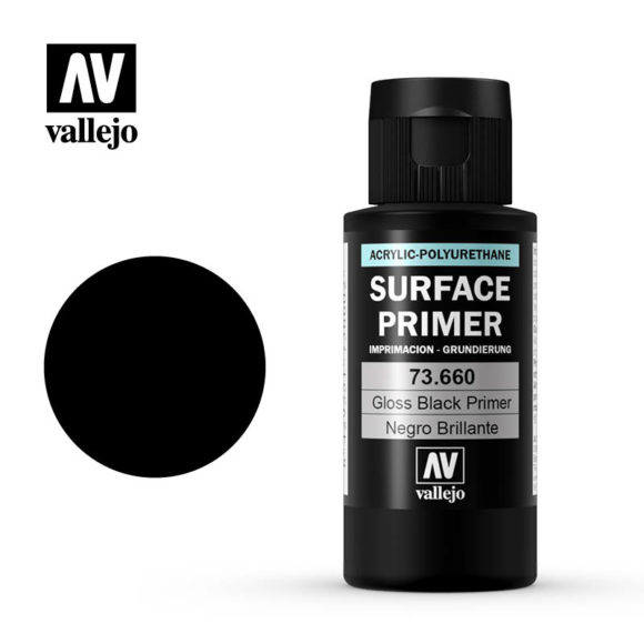 vallejo surface primer gloss black 73660 60ml