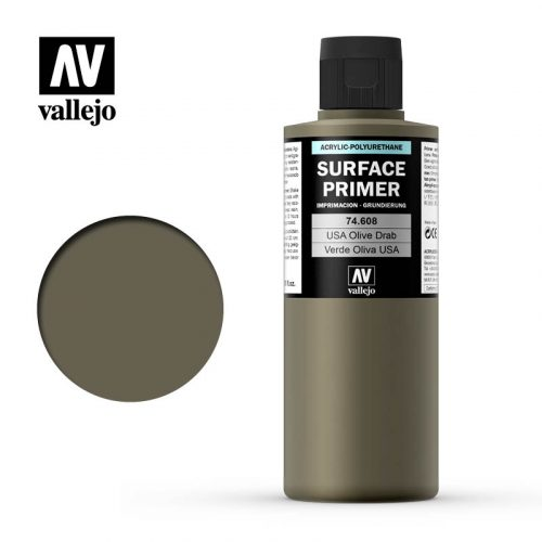 vallejo surface primer us olive drab 74608 200ml
