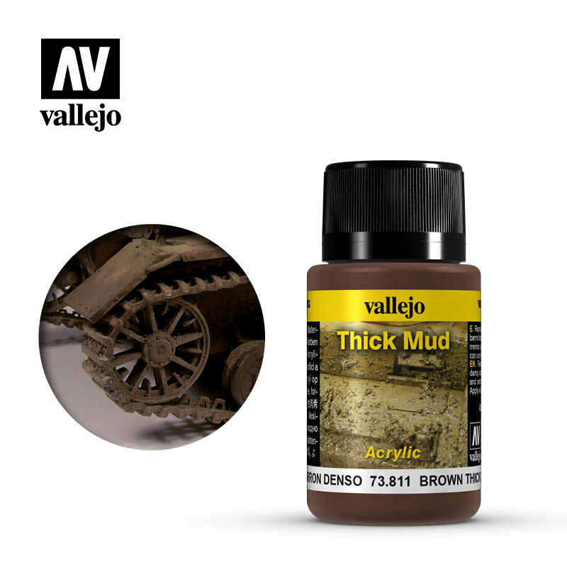 vallejo weathering effects brown thick mud 73811