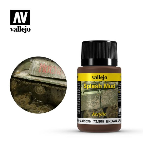 vallejo weathering effects wet brown splash mud 73805