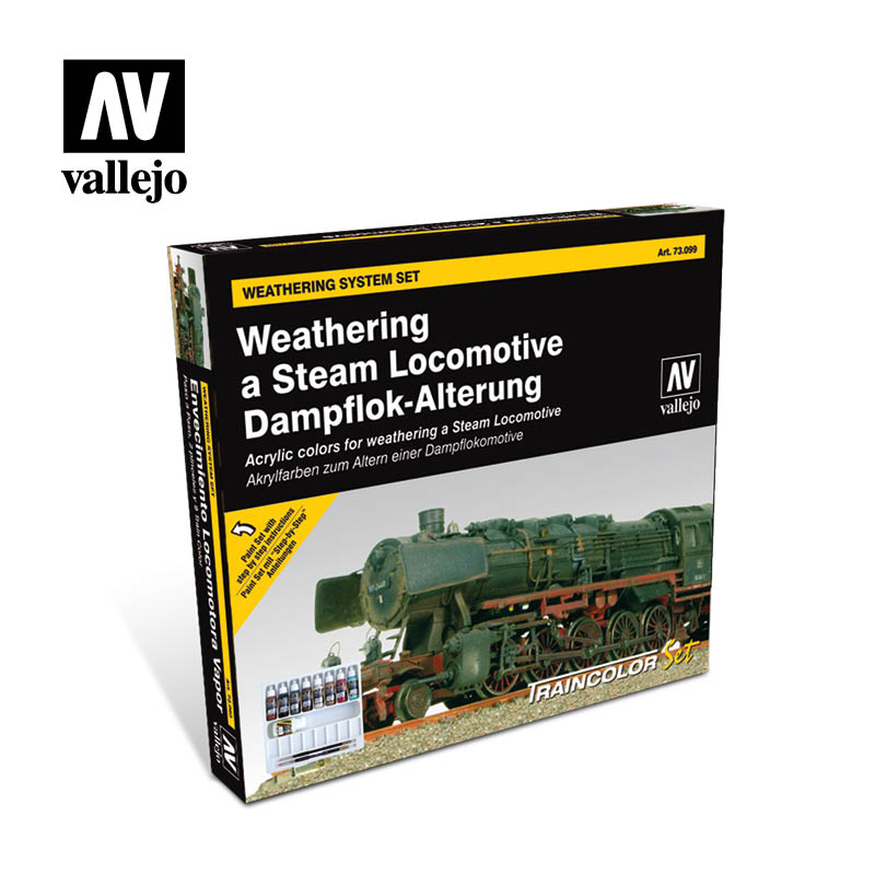 Weathering a steam locomotive 73099 vallejo effects set