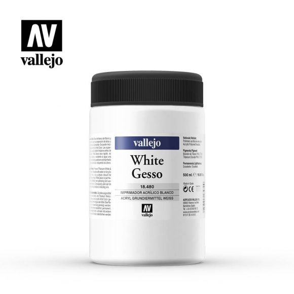white gesso vallejo 18480 500ml