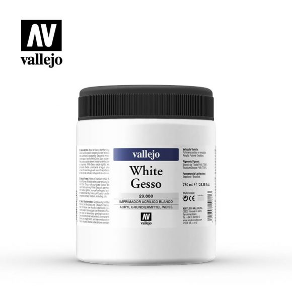 white gesso vallejo 29880 750ml