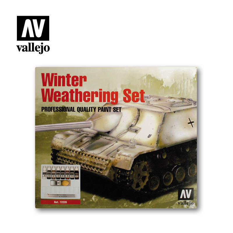 Winter weathering 72220 vallejo model color effects set