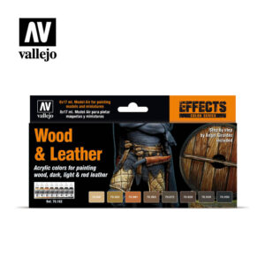 Wood & Leather 70182 Vallejo Model Color Effects set