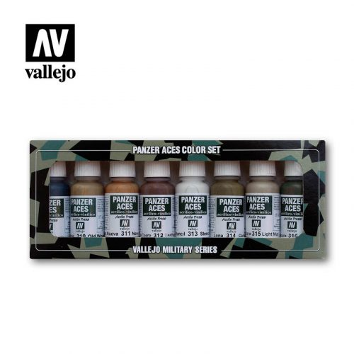 Wood leather stencil canvas mud 70123 vallejo panzer aces effects set