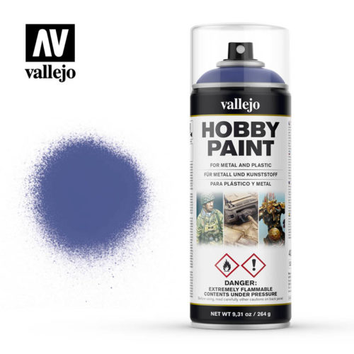 vallejo hobby spray paint 28017 ultramarine blue