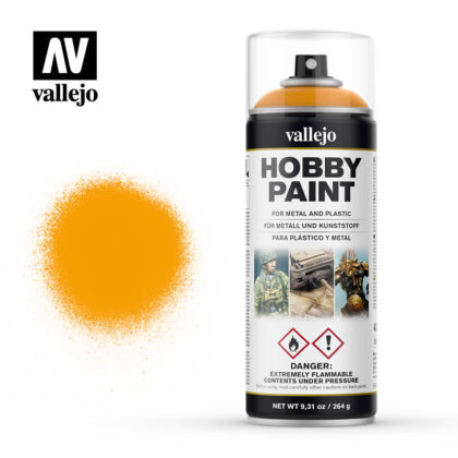 vallejo hobby spray paint 28018 sun yellow