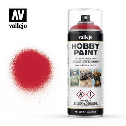 vallejo hobby spray paint 28023 bloody red