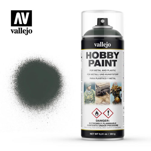 vallejo hobby spray paint 28026 dark green