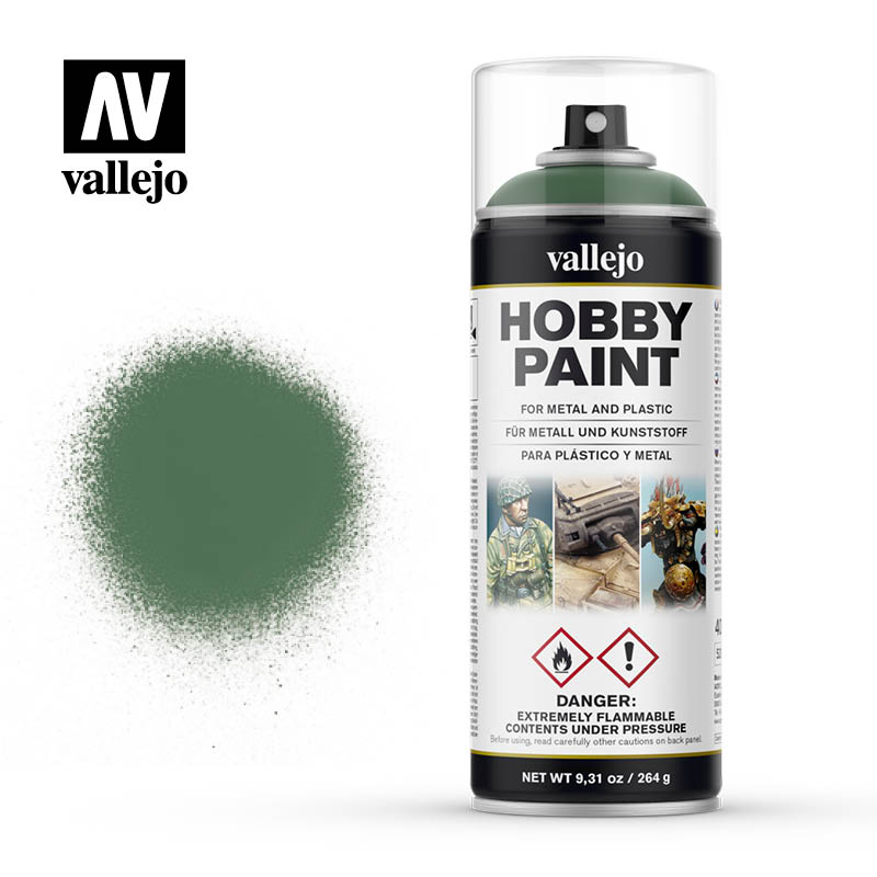 vallejo hobby spray paint 28028 sick green