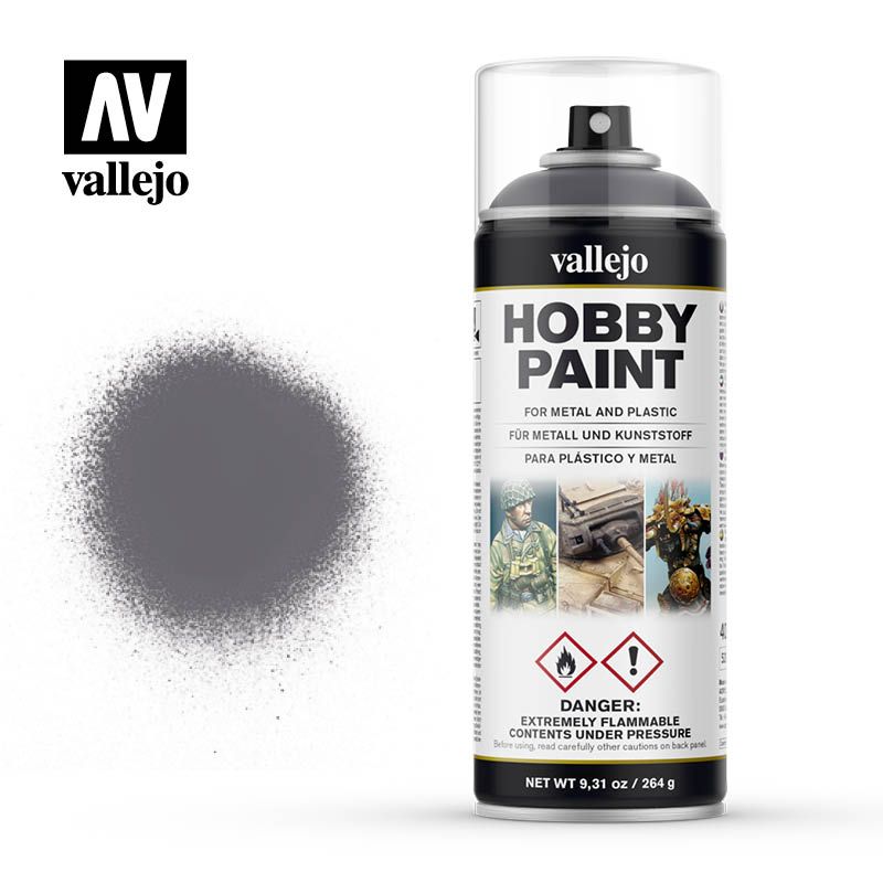 vallejo hobby spray paint 28031 gunmetal