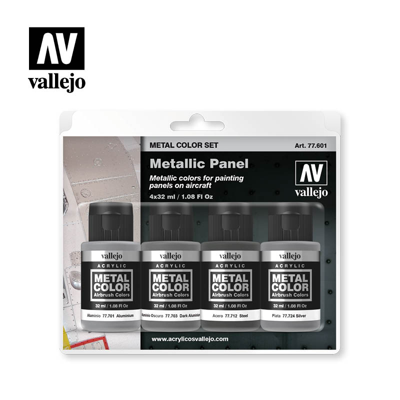 Vallejo Metal Color Metallic Panel Set 77.601