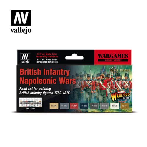 Vallejo Wargames British Infantry Napoleonic Wars 70163 Back