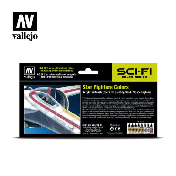 Vallejo Sci-Fi Star Fighters Colors 71612 back