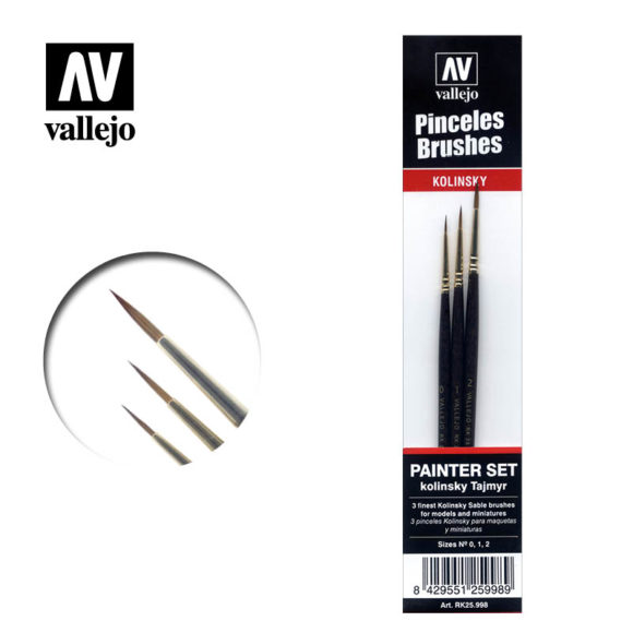 Brush Kolinsty Tajmir Vallejo Painter Set RK25.998
