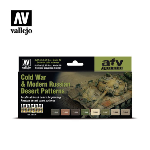 Cold War Modern Russian Desert Patterns Vallejo AFV 71.620