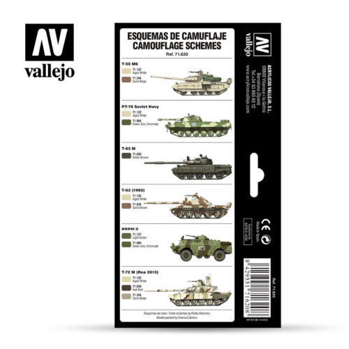 Cold War Modern Russian Desert Patterns Vallejo AFV 71.620 Back