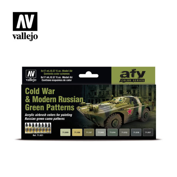 Cold War Modern Russian Green Patterns Vallejo AFV 71.621
