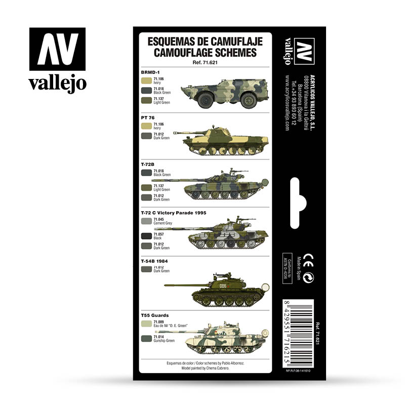 Cold War & Modern Russian Green Patterns - Acrylicos Vallejo