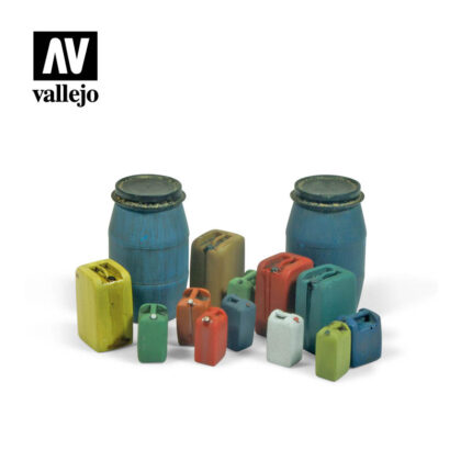 Diorama Accessories Vallejo Scenics Assorted Modern Plastic Drums (#2) SC211