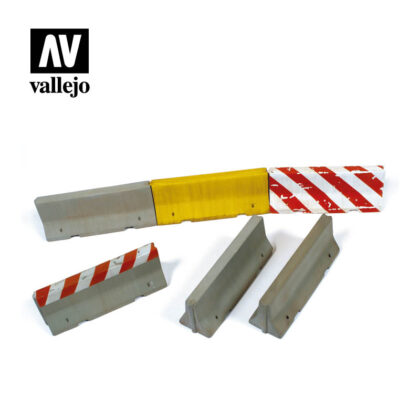 Diorama Accessories Vallejo Scenics Concrete Barriers SC214