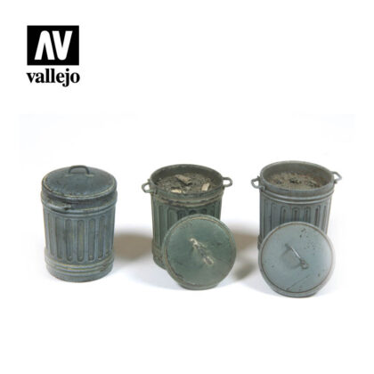 Diorama Accessories Vallejo Scenics Garbage Bins (#1) SC212