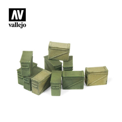 Diorama Accessories Vallejo Scenics Large Ammo Boxes SC221