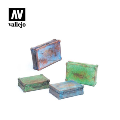 Diorama Accessories Vallejo Scenics Metal Suitcases SC226