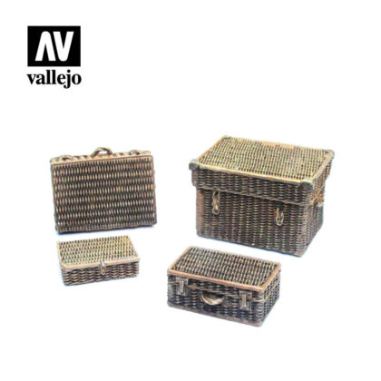 Diorama Accessories Vallejo Scenics Wicker Suitcases SC227