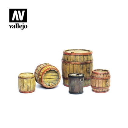 Diorama Accessories Vallejo Scenics Wooden Barrels SC225
