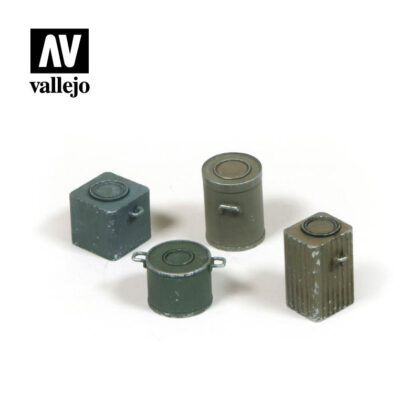 Diorama Accessories Vallejo Scenics WWII German Food Containers SC224