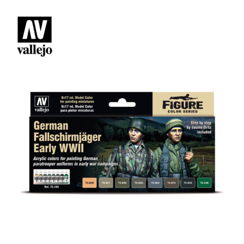 German Fallschirmjäger Early WWII Vallejo Figure 70.185