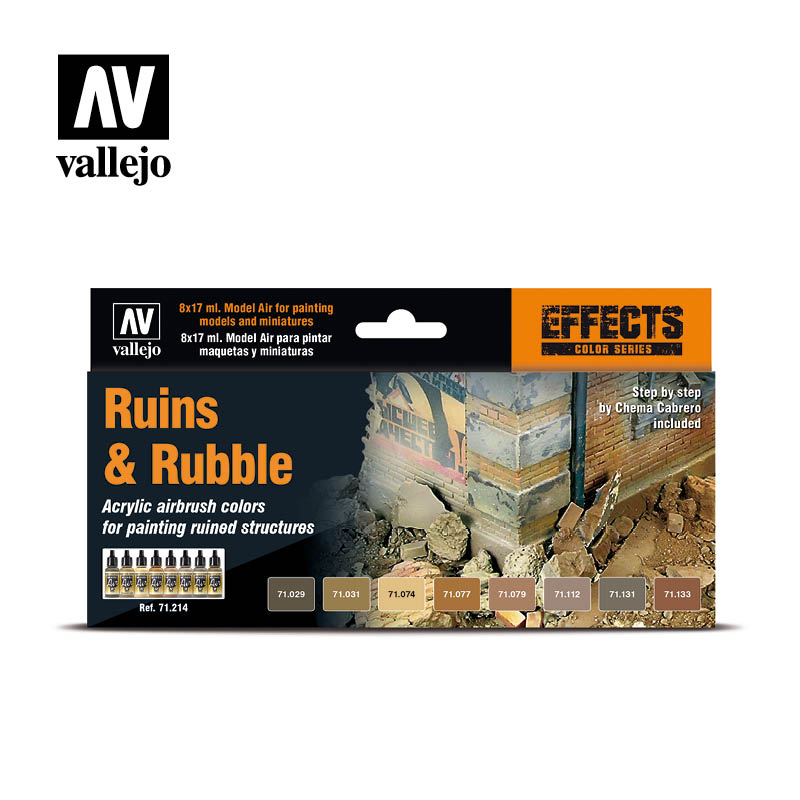 ruins and rubble vallejo effects set 71214
