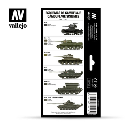Russian Greens Vallejo AFV 71613 Back