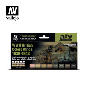 WWI British Colors Africa 1939-1943 Vallejo AFV 71.622