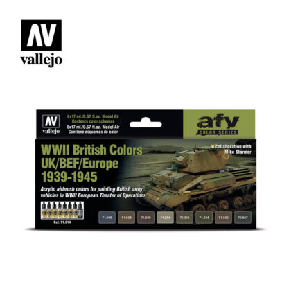 WWII British Colors UK/BEF/Europe 1939-1945 Vallejo AFV 71.614