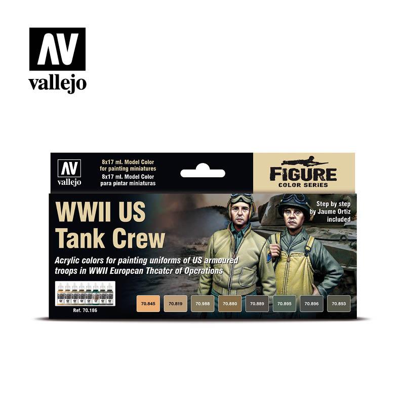 WWII US Tank Crew Vallejo Figure 70.186